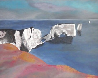 Old Harry Rocks Limited Edition Giclee Print by Suzanne Whitmarsh