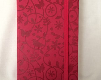 A5 Red Birds and Butterfly Note Book