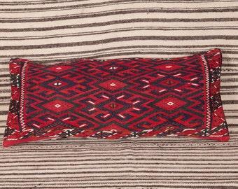 "TURKMENISTAN YOMUT Pillow Turkmen All Wool Classic Design 1'4""x2'3""/34x65 cm FREE Shipping Item No. Yy-103"