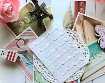 Paper Adhesive PHOTO CORNER Stickers/ DIY Scrapbooking/ 24stickers/1 sheet/White