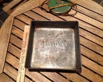 Vintage Swans Down Cake Flour Baking Pan