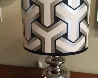 Silver Ceramic lamp