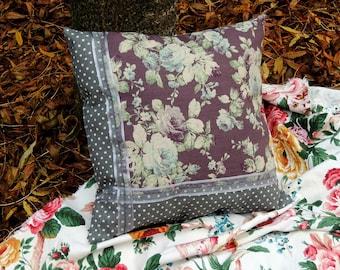 "ushion, pillo, décorative pillow, ""Flower Garden"""