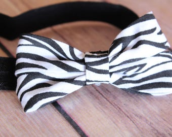 Zebra headband, animal headband, infant headband, baby headband