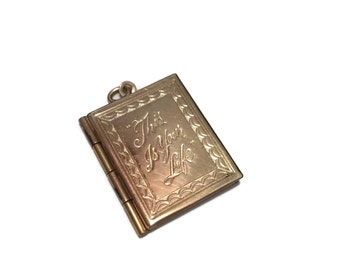 Vintage Gold Toned This Is Your Life Locket