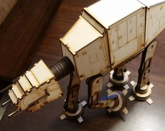 Similar to Star Wars AT-AT Walker wood laser cut model
