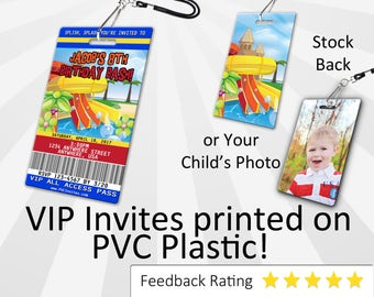 Water Park Invitation PLASTIC Water Park, Water Park Invitation, Birthday Invitation, Birthday Invite, Water Park Birthday Invitation INV285