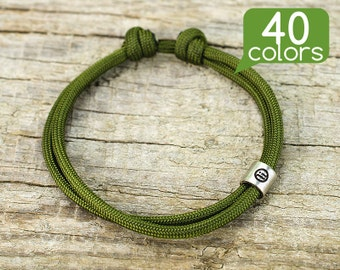 Cheap bracelets - Cheap friendship bracelets for men or women with silver plated tube. Minimalistic design, easy to use, 40 colors!