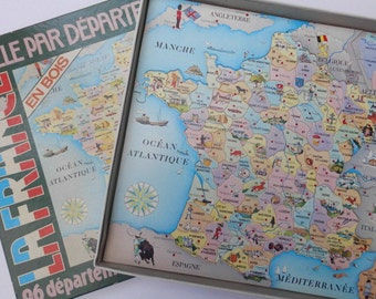 vintage jigsaw puzzle France