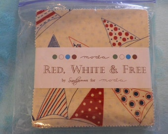 Red, White & Free Charm Pack