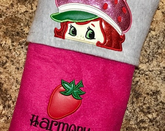 Strawberry Shortcake Inspired Hooded Blanket