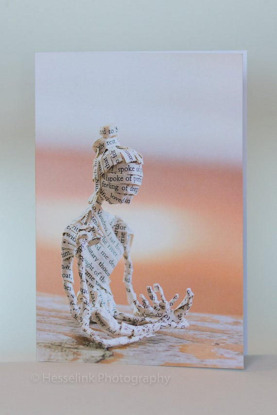 Book Sculpture Greeting Card, Blank Card,Hermann Hesse, Siddhartha