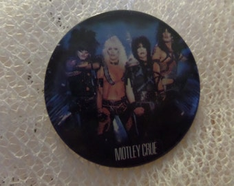 Vintage Classic Rock Motley Crue buttons or pins