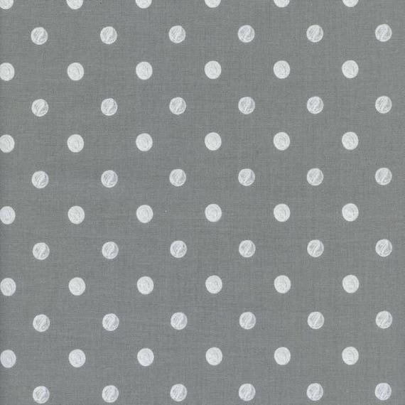 Panel Crib Skirt >> Rifle Paper Co. Wonderland Dots in Grey > MADE-to-ORDER grey crib skirt, grey dot crib bedding, neutral baby bedding