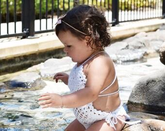 """Crochet Monokini (one piece) Swimwear """"Frankie"""" Style"""