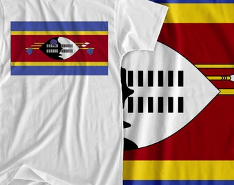 Swaziland - Africa Flag - Iron On Transfer
