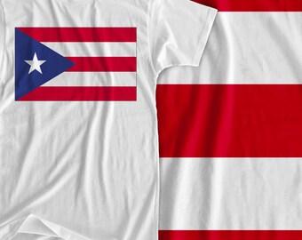 Puerto Rico - America & Caribbean Flag - Iron On Transfer