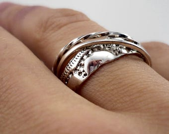 Sterling silver 925 ring, silver ring, silver 925 ring, sterling silver 925, 925 ring, ring, silver, sterling, 925, trinity, interlaced