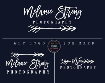Photography Logo-Arrow Logo-Tribal Logo-Signature Logo-Branding