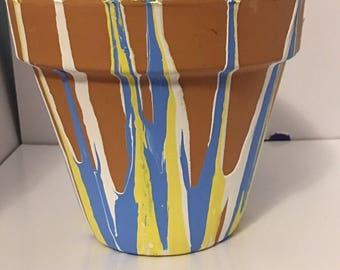 Charger inspired Terra Cotta Pot (6 inch)