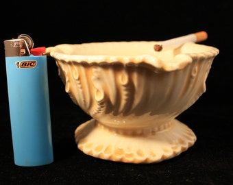 "Vintage Ashtray, Ash Pot ""The Dover"" Ceramic Deep Ashpot, Cigarettes, Pipes"