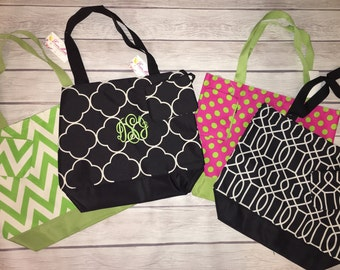 SALE!!! Stylish custom monogrammed large canvas TOTE & coin purse!!
