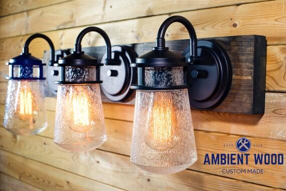 Bathroom Vanity Lighting Oil Rubbed Bronze vanity lighting - ambient wood furnishing