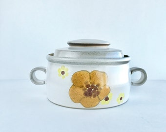 Vintage Denby Langley Minstrel Covered Casserole Dish, Vintage Denby Minstrel 1 Qt. Covered Casserole Dish Made in England