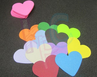 Heart Confetti Die Cuts for Scrapbooking or Party Decor Choice of Color Cardstock 100 Pieces
