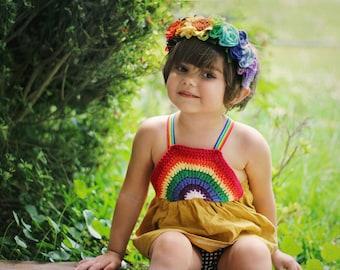 Rainbow Full Floral crown