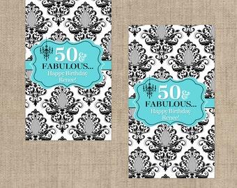 Breakfast at Tiffanys Hershey's Mini's Chocolate Wrappers, Mini Hershey Wrappers,  Birthday Favors, Breakfast at Tiffanys Favor Supplies
