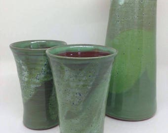 Ceramic Beaker / Handmade Pottery / Green
