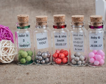wedding favors Save the date Mini glass bottle favors Spring wedding favors Wedding favours Keepsake