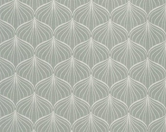 Au Maison Oilcloth Alli verte grey pastel coated cotton