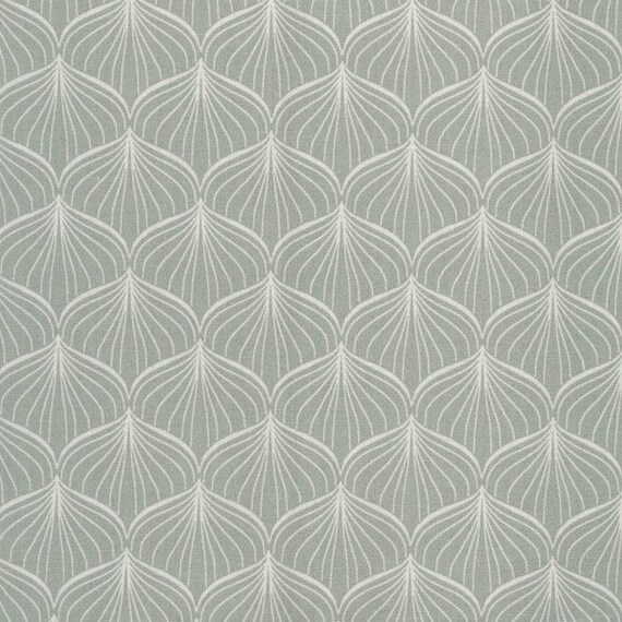 Au maison oilcloth alli verte grey pastel coated cotton for Au maison oilcloth