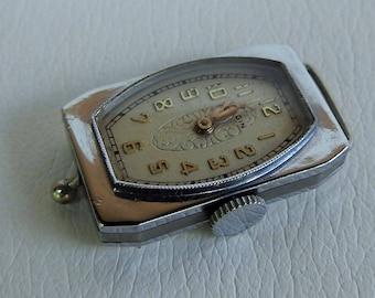 Vintage Art Deco Elgin Ladies  Nickel Case Factory Watch