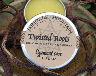 Twisted Roots ligament care - comfrey & solomon's seal root herbal skin salve