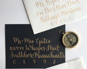 Wedding Calligraphy Envelope Addressing, Hand Lettered Envelopes