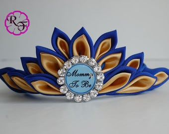 Baby Shower Crown , Mommy To Be Tiara , Mommy To Be Corsage , Royal Baby