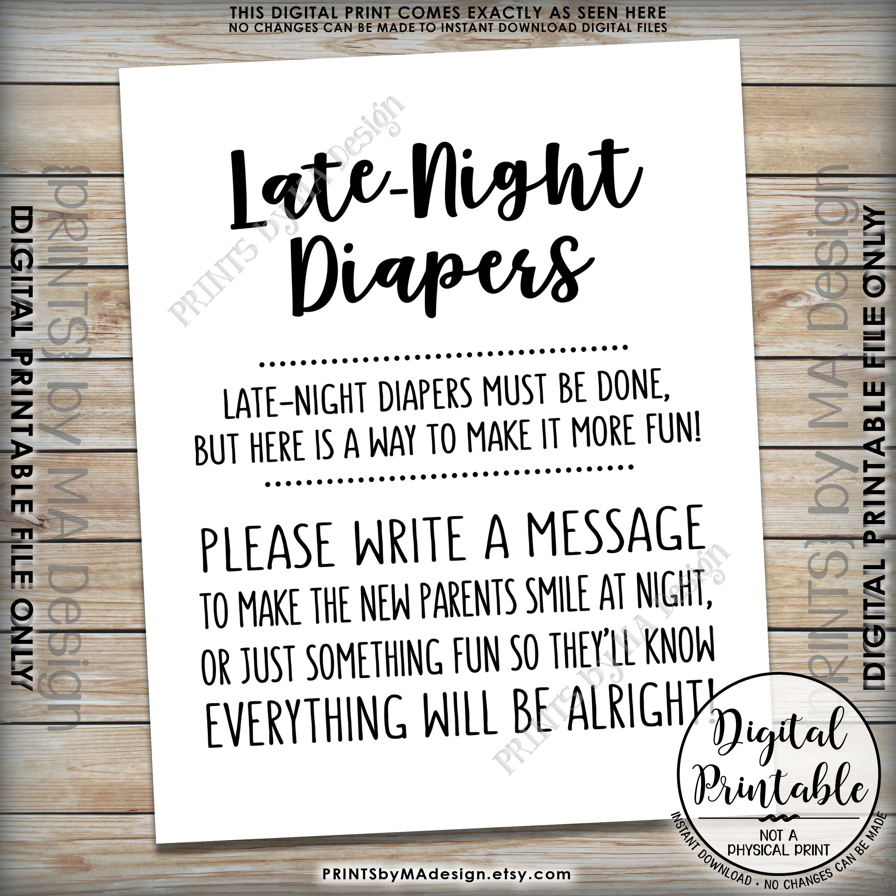 Inventive image pertaining to late night diapers printable