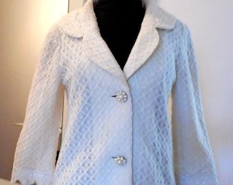 Vintage MOISELLE,  Lace jacket, White Blazer