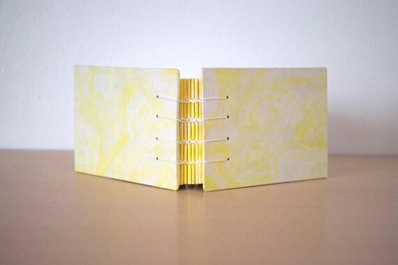 A6 blank notebook, Small notebook gift, A6 journal gift, Cute small notebook, Diary notebook, Handmade notebook, Marbled journal