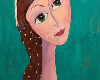 Desdemona Wadsworth Fullmer l 20 x 30 inch acrylic on wood canvas