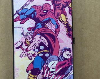MARVEL COMICS Hinged Wallet - Spiderman Thor Iron Man & Captain America