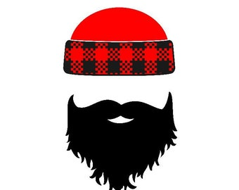 Lumberjack Iron On Transfer, Beard Decal, Plaid, Gift for Father and Son, Matching t Shirts, Pregnancy Announcement