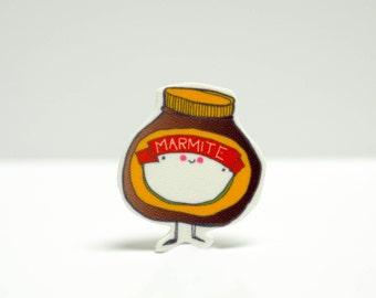 Mr Marmite Pin Badge