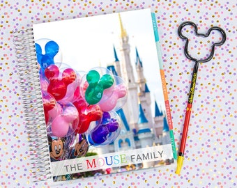 Disney World Erin Condren Life Planner Cover CUSTOMIZED DIGITAL DOWNLOAD - Balloons on Main Street 2