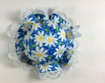 Kawaii door knob cover (blue with daisy print)