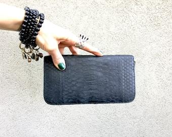 Python Skin Wallet, Snake Skin Wallet. Python Wallet, Snake Wallet called Sophia. Midnight Black