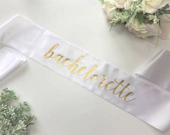 Bachelorette Sash | Bridal Party Bachelorette Party Bridal Shower Bride to Be